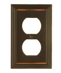 Steps Aged Bronze Cast Metal 1 Duplex Wallplate