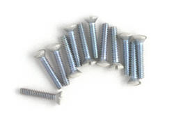 Ivory 1/2 Inch Wallplate Screws 10Pk