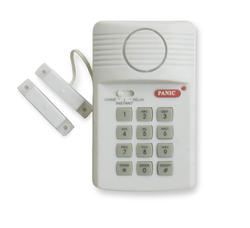 White Magnetic Door Alarm with Keypad