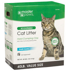 Masterpaws® Scoopable Cat Litter - 40 lb.