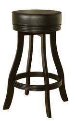 AHB Designer Bar Height Black Backless Swiveling Stool