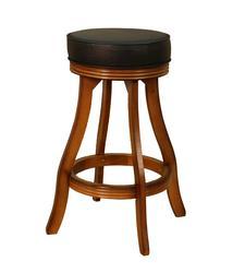 AHB Designer Bar Height Vintage Oak Backless Swiveling Stool