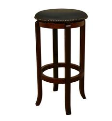 AHB Princess Counter Height English Tudor Backless Swiveling Stool