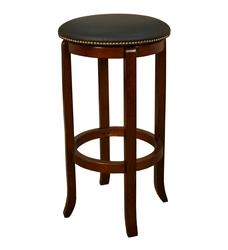 AHB Princess Counter Height Walnut Backless Swiveling Stool