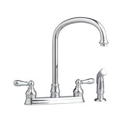 Hampton Kitchen Faucet Metal Lever Two Handle With Spray
