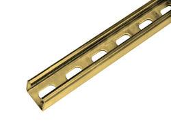 Strut Channel 10' 12-Gauge Gold Galvanized