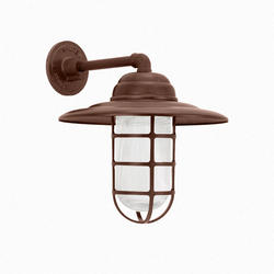 """10"""" Round x 10"""" High Wall Sconce with Ribbed Castguard"""