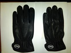 Ansell Black Deerskin Lined Leather Gloves