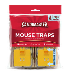 Catchmaster® Wooden Mouse Traps (4-Pack)