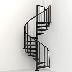 "Arke Civik 4' 7"" Black Spiral Stair Kit"
