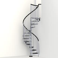 "Arke Civik 3' 11"" Grey Spiral Stair Kit"