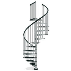"Arke Civik 4' 7"" Grey Spiral Stair Kit"