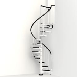"Arke Civik 3' 11"" White Spiral Stair Kit"