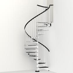 "Arke Civik 5' 3"" White Spiral Stair Kit"