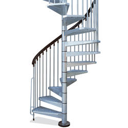 "Arke Enduro 3' 11"" Silver Outdoor Spiral Stair Kit"