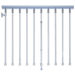"Arke Eureka 47"" Grey Balcony Rail Kit"