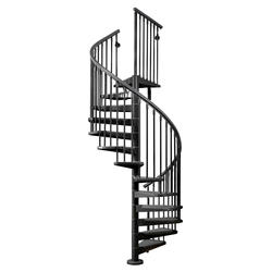 "Arke Eureka 3' 11"" Black Spiral Stair Kit"