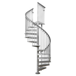 "Arke Eureka 3' 11"" Grey Spiral Stair Kit"