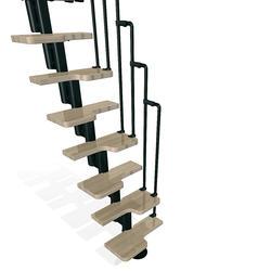 """Arke Karina 1' 10-1/2"""" Black Stair Kit"""