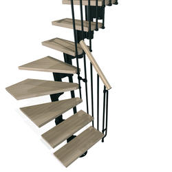 "Arke Kompact 35"" Black L-Turn Stair Kit"