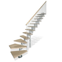 "Arke Kompact 29"" Grey L-Turn Stair Kit"