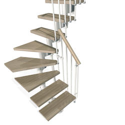 "Arke Kompact 35"" White L-Turn Stair Kit"