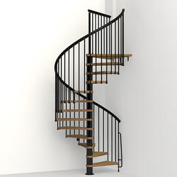 "Arke NICE 1 5' 3"" Black Spiral Stair Kit"