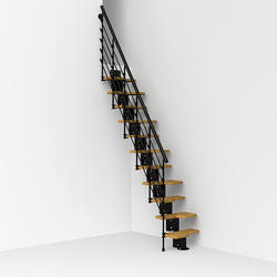 "Arke Oak 30.XTRA 1' 9"" Black Stair Kit"