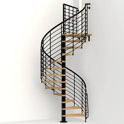 "Arke Oak 70.XTRA 4' 3"" Black Spiral Stair Kit"