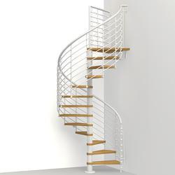 "Arke Oak 70.XTRA 4' 3"" White Spiral Stair Kit"