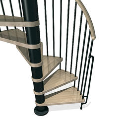 "Arke Phoenix 4' 7"" Black Spiral Stair Kit"