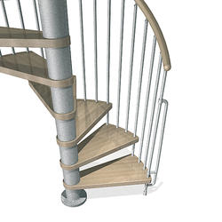 "Arke Phoenix 4' 7"" Grey Spiral Stair Kit"