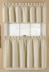"Window Accents Regatta Stripe Tier Set  58"" x 24"""