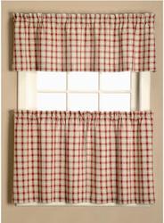 """Window Accents Austin Plaid Tier Set 58"""" x 24"""""""