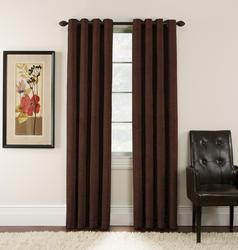 "Window Accents Antique Velvet Grommet Drapery Panel 54"" x 84"""