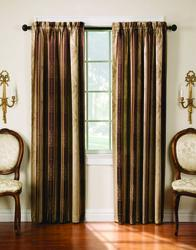 "Thermatec Tuscan Stripe Drapery Panel 52"" x 63"""