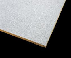 "Armstrong 24"" x 60"" Unperforated Pebble Fiberglass Square Lay-In Drop Ceiling Tile"