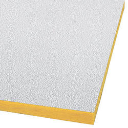 "Armstrong 24"" x 48"" Perforated Pebble Fiberglass Square Lay-In Drop Ceiling Tile"