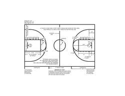Armstrong Standard Basketball Court VCT Flooring Insert Kit