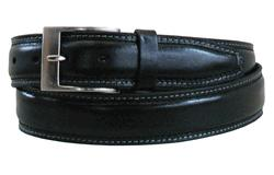 "34"" Oil-Tan Pad Black Belt"