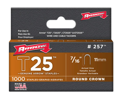 Arrow 174 7 16 Quot T25 Round Crown Staples 1 000 Pack At Menards 174
