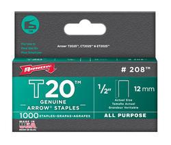 """Arrow® T-20 1/2"""" Crown Staples (1,000-Pack)"""