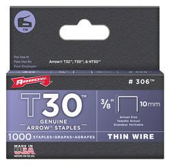 "Arrow® T-30 3/8"" Staples (1,000-Pack)"