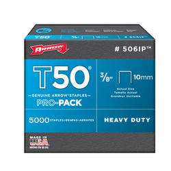 "Arrow® T-50 3/8"" Heavy-Duty Staples (5,000-Pack)"