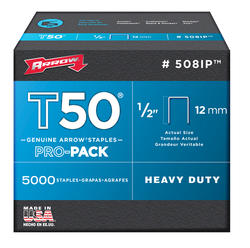 "Arrow® T50 1/2"" Staples (5,000-Pack)"