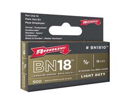 "Arrow® 5/8"" Brown Brad Nails (500-Pack)"