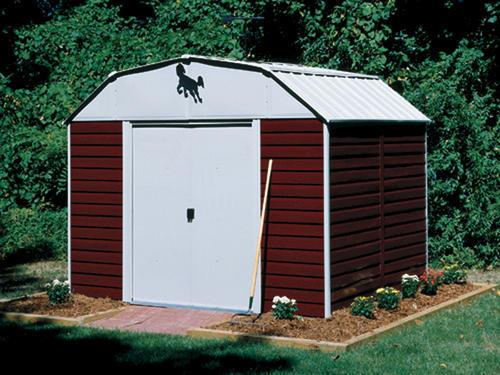 Arrow Red Barn 10 39 X 8 39 Steel Storage Building At Menards