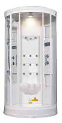 Aston Global Steam Shower, White, 12 Body Jets