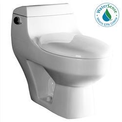 """Ariel Platinum """"Athena""""  Contemporary One Piece White Toilet 29x15x26"""
