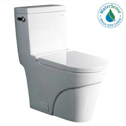 "Ariel Platinum ""Oceanus""  Contemporary One Piece White Toilet 29x15x31"